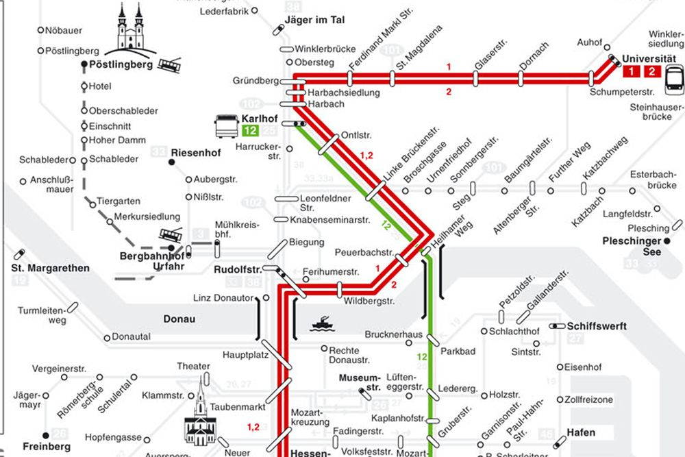 Велотур Пассау-Вена - транспорт в Линце
