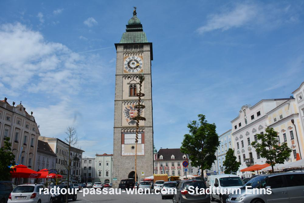 Велотур Пассау-Вена - Городская башня в Эннсе
