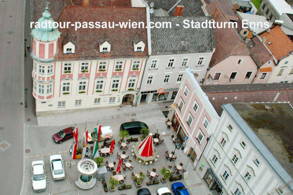 Stadtturm Enns - Aussicht